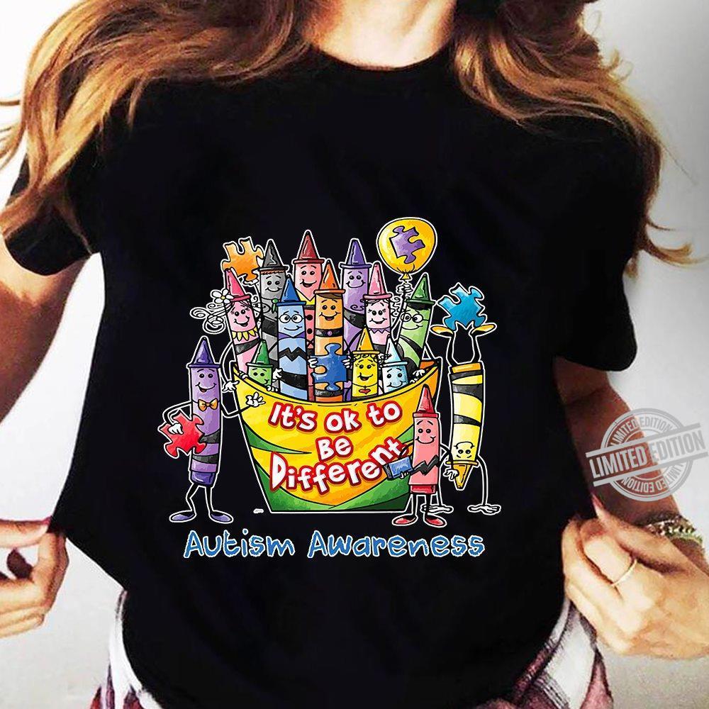 It's Ok To Be Diferent Autism Awareness Shirt