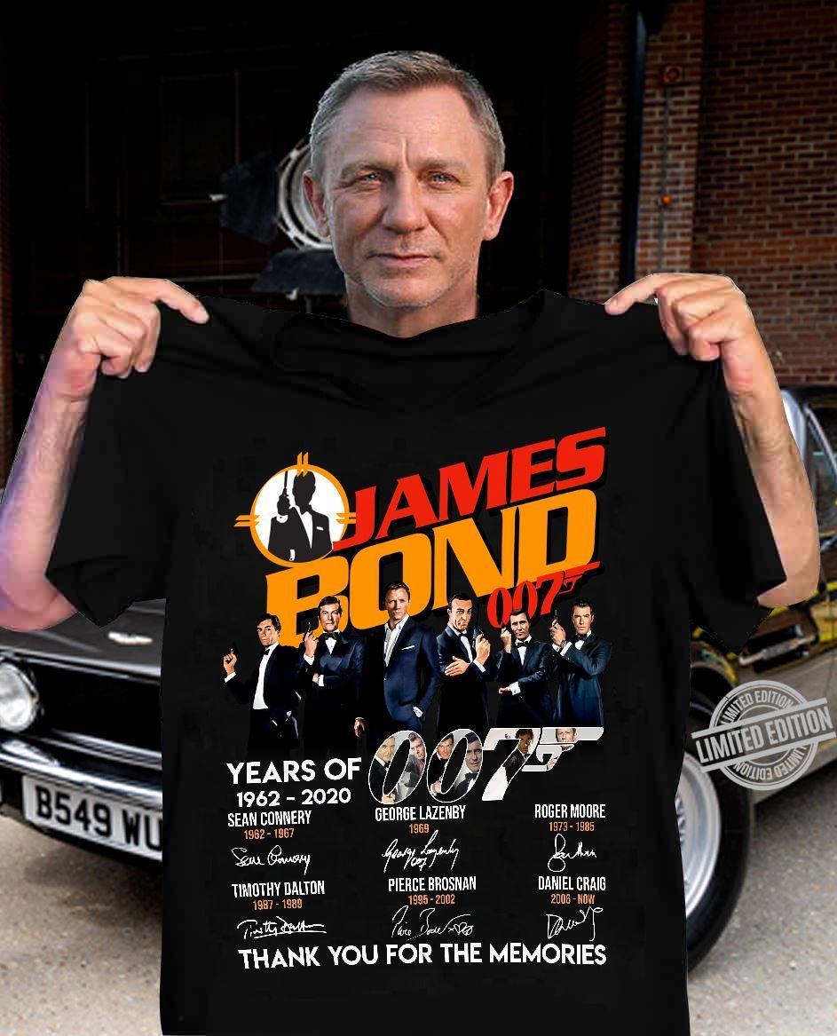 James Bond 007 Years Of 1962-2020 Shirt