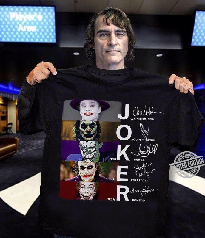 Joker Jack Nicholson Joaquinn Phoenix Mark Hamill Heath Ledger Gesa Romero Shirt