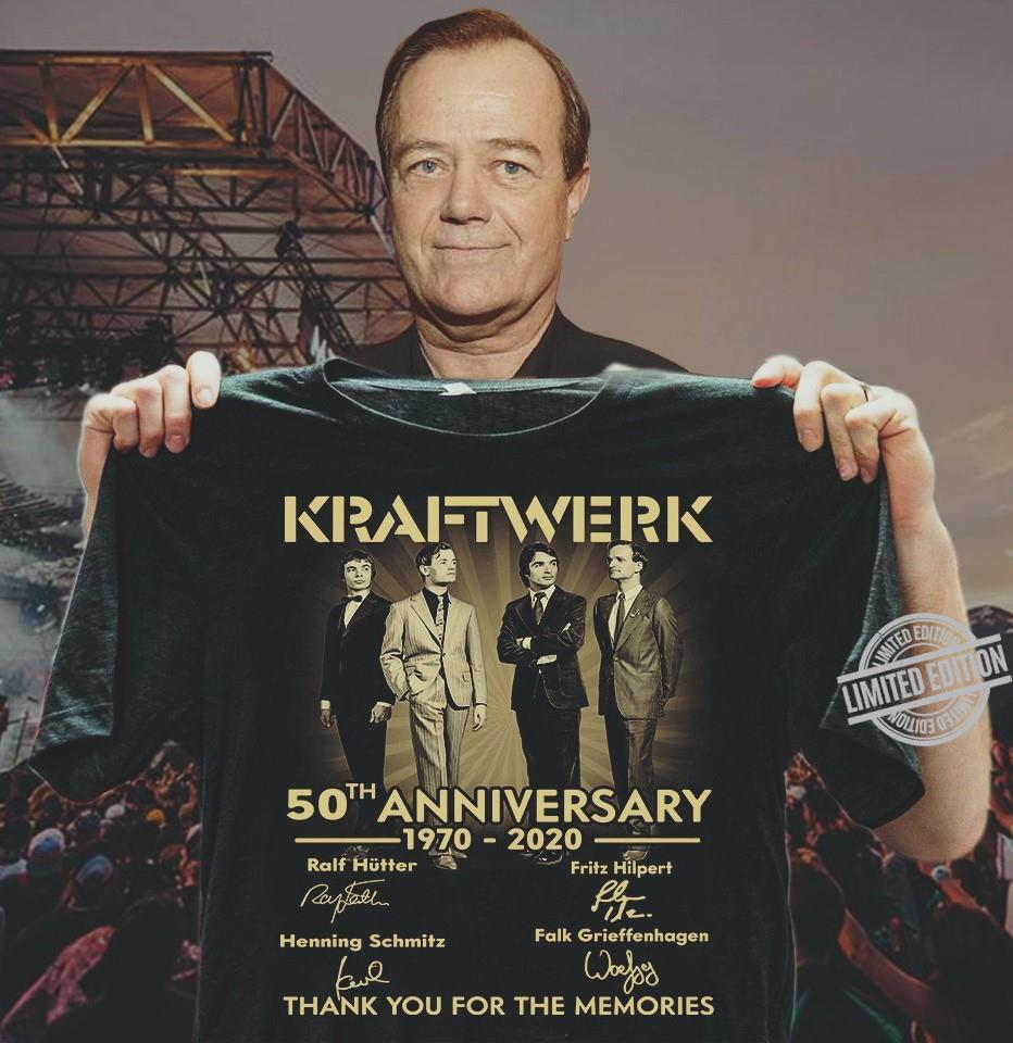 Kraftwerk 50th Anniversary 1970 2020 Thank You For The Memories Shirt