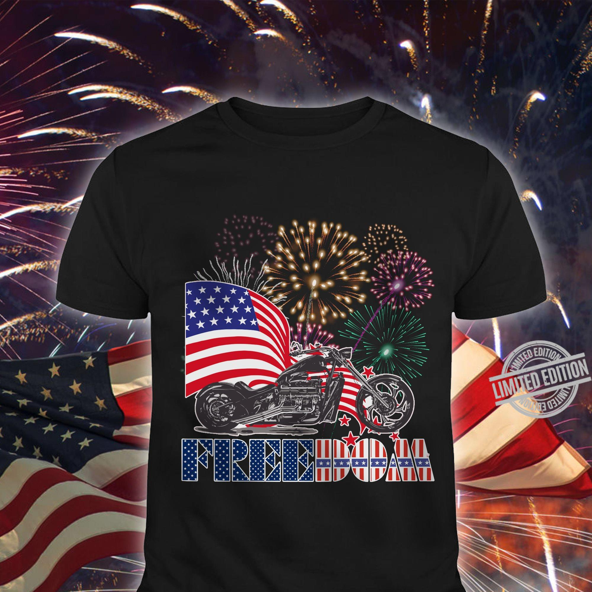 Motorcycle Freedom American Shirt
